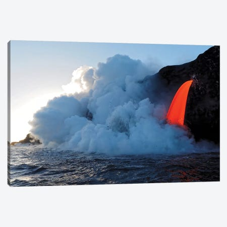 USA, Hawaii, Big Island. Lava from the Big Island's Pu'u O'o eruption. Canvas Print #JEG10} by Julie Eggers Canvas Art