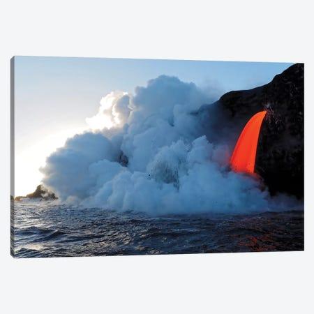 USA, Hawaii, Big Island. Lava from the Big Island's Pu'u O'o eruption. Canvas Print #JEG10} by Julie Eggers Canvas Art