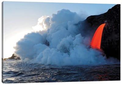 USA, Hawaii, Big Island. Lava from the Big Island's Pu'u O'o eruption. Canvas Art Print