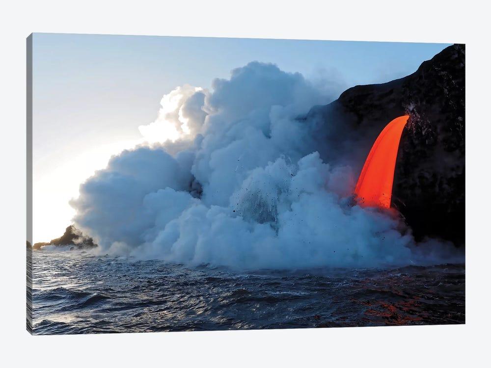 USA, Hawaii, Big Island. Lava from the Big Island's Pu'u O'o eruption. by Julie Eggers 1-piece Art Print