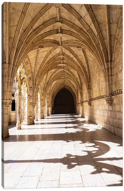 Portugal, Lisbon. Interior view in the Jeronimos Monastery, a UNESCO World Heritage Site. Canvas Art Print