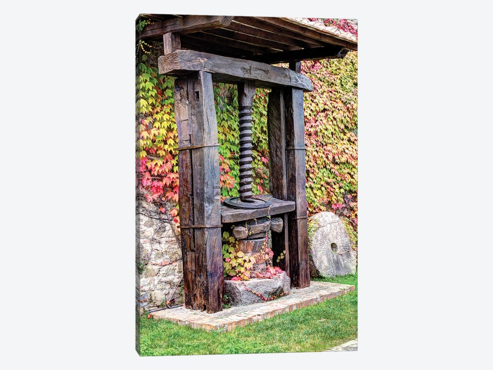 Old Olive Oil Press, Castello Banfi, Siena Province, Tuscany Region, Italy by Julie Eggers 1-piece Canvas Print