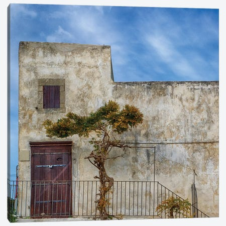 Italy, Apulia, Foggia, Vieste. Historic Home In The Town Of Vieste. Canvas Print #JEG31} by Julie Eggers Canvas Wall Art