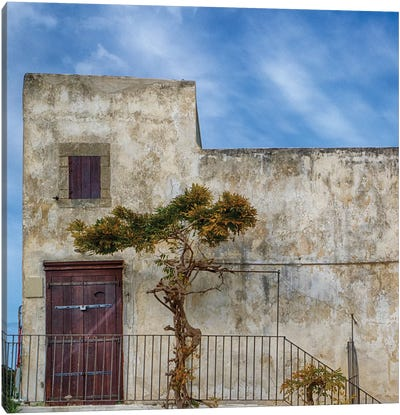 Italy, Apulia, Foggia, Vieste. Historic Home In The Town Of Vieste. Canvas Art Print