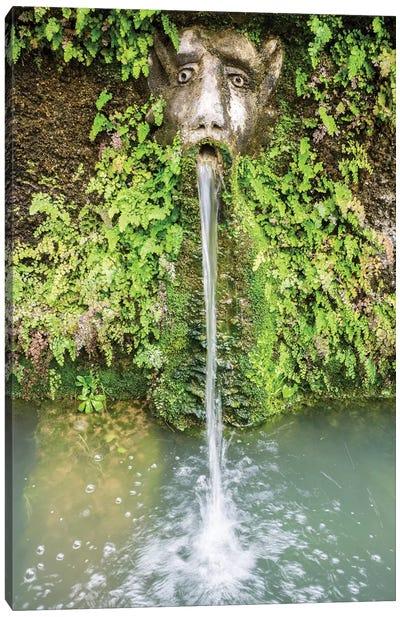 Italy, Lazio, Tivoli, Villa D'Este. A Mask Of The Hundred Fountains. Canvas Art Print