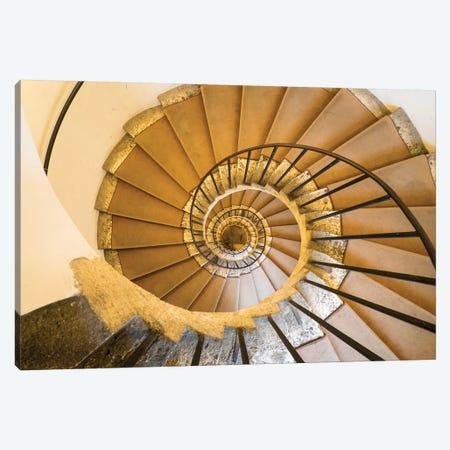 Italy, Lazio, Tivoli, Villa D'Este. Spiral Staircase. Canvas Print #JEG33} by Julie Eggers Canvas Art