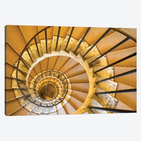 Italy, Lazio, Tivoli, Villa D'Este. Spiral Staircase. Canvas Print #JEG34} by Julie Eggers Canvas Print