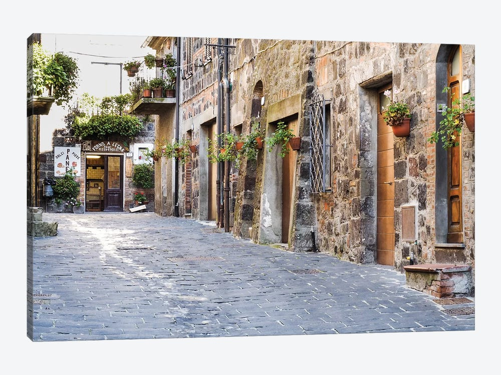 Village Street, Contignano, Siena Province, Tuscany Region, Italy by Julie Eggers 1-piece Canvas Wall Art