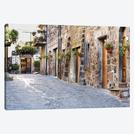 Village Street, Contignano, Siena Province, Tuscany Region, Italy Canvas Print #JEG3} by Julie Eggers Art Print