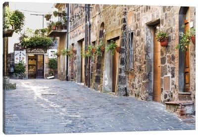 Village Street, Contignano, Siena Province, Tuscany Region, Italy Canvas Art Print
