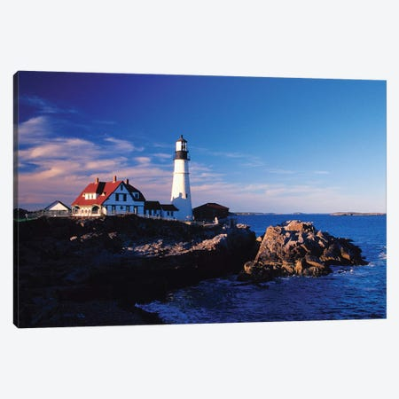 Portland Head Light II, Cape Elizabeth, Cumberland County, Maine, USA Canvas Print #JEG4} by Julie Eggers Canvas Artwork