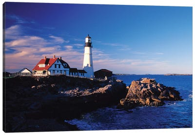 Portland Head Light II, Cape Elizabeth, Cumberland County, Maine, USA Canvas Art Print