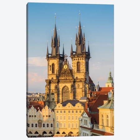 Czech Republic, Prague. Tyn Church in Old Town Square. Canvas Print #JEG8} by Julie Eggers Canvas Print