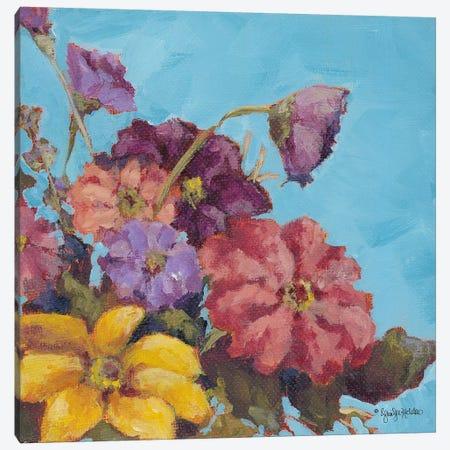 Katie's Bouquet Canvas Print #JEH16} by Jennifer Holden Canvas Wall Art