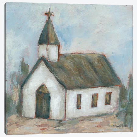 Chapel On The Hill Canvas Print #JEH20} by Jennifer Holden Canvas Wall Art