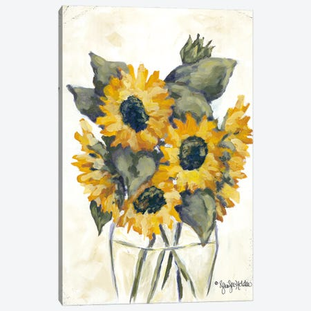 Harvest of Sunflowers Canvas Print #JEH23} by Jennifer Holden Canvas Art