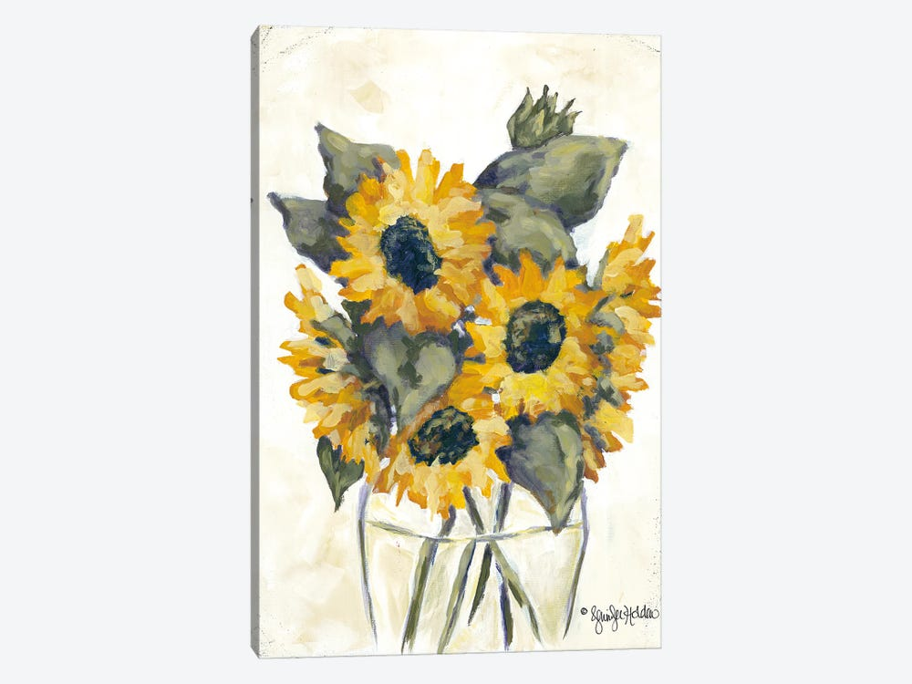 Harvest of Sunflowers by Jennifer Holden 1-piece Canvas Art Print