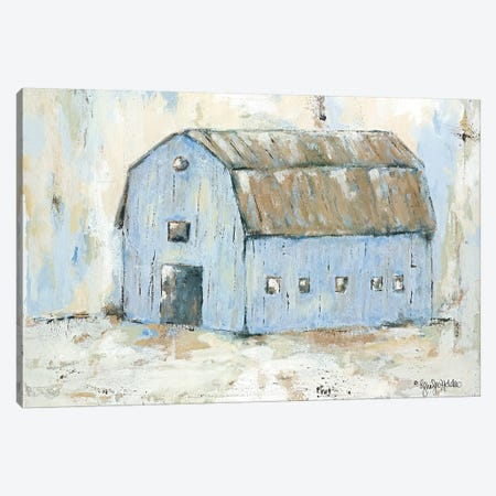 Blue Barnyard Canvas Print #JEH2} by Jennifer Holden Canvas Art