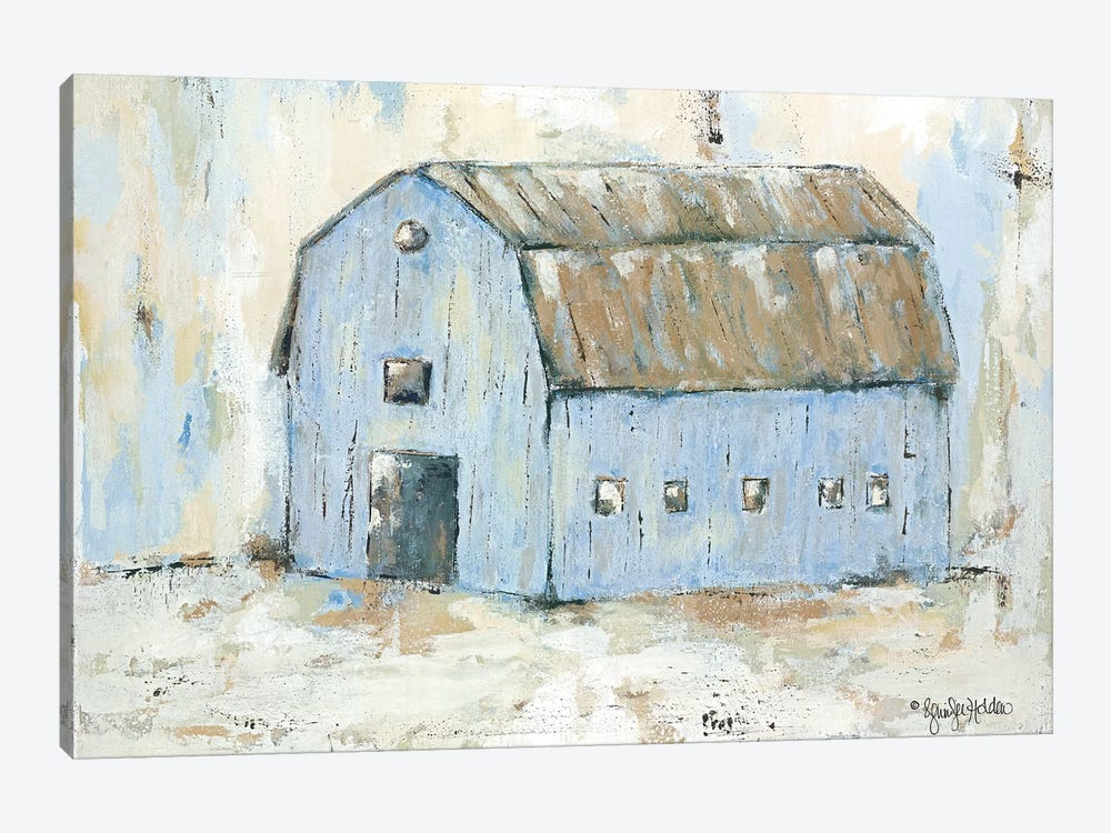 Blue Barnyard by Jennifer Holden 1-piece Canvas Wall Art