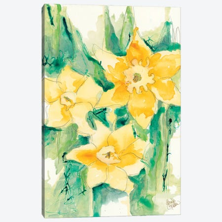 First Blooms Canvas Print #JEH32} by Jennifer Holden Canvas Print