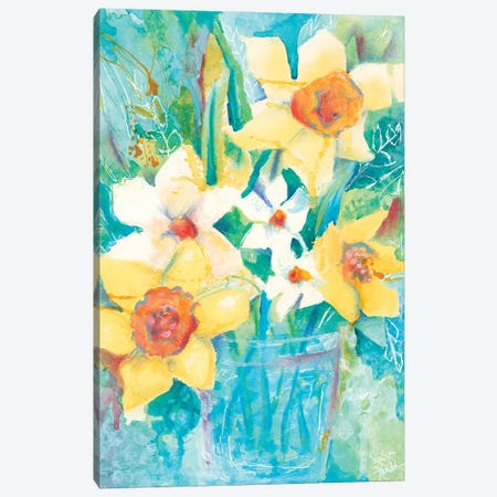 Spring Bouquet Canvas Print #JEH35} by Jennifer Holden Canvas Wall Art