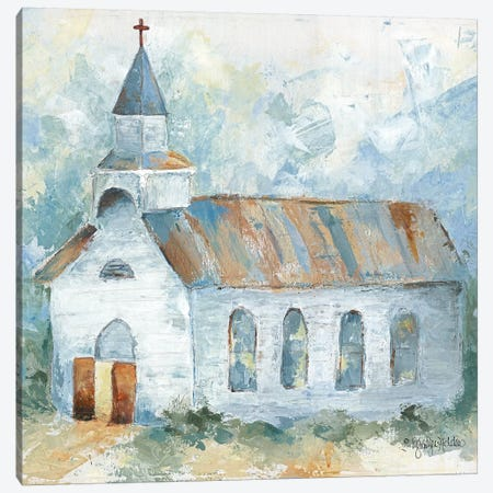 Near the Cross Canvas Print #JEH7} by Jennifer Holden Art Print