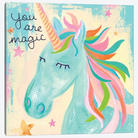 You Are Magic Unicorn Canvas Print #JEI5} by Jennifer Mccully Canvas Wall Art