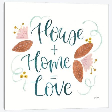 Home Sweet Home III Canvas Print #JEJ101} by Jenaya Jackson Canvas Artwork