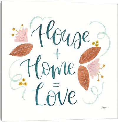 Home Sweet Home III Canvas Art Print