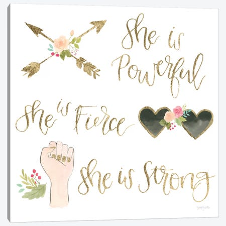 Girl Power IV Canvas Print #JEJ1} by Jenaya Jackson Canvas Art
