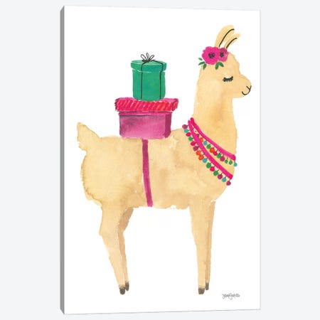 La La Llama I Canvas Print #JEJ22} by Jenaya Jackson Canvas Art