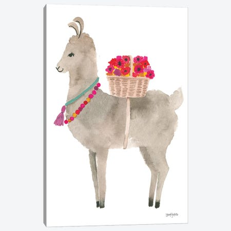 La La Llama II Canvas Print #JEJ23} by Jenaya Jackson Canvas Art