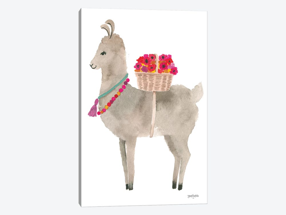 La La Llama II by Jenaya Jackson 1-piece Canvas Wall Art