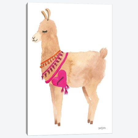 La La Llama IV Canvas Print #JEJ25} by Jenaya Jackson Art Print