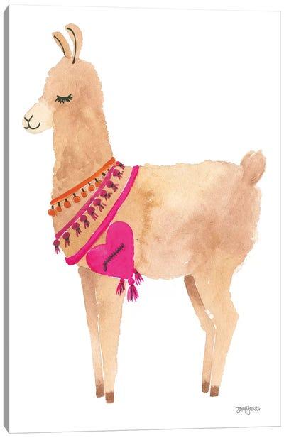 La La Llama IV Canvas Art Print
