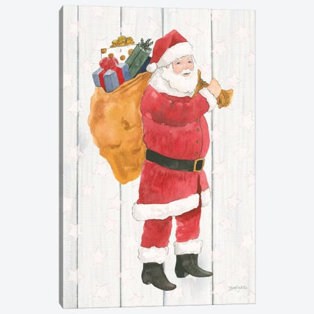 Welcome Christmas I Canvas Print #JEJ43} by Jenaya Jackson Canvas Art