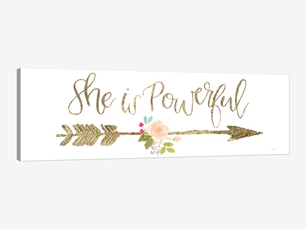 Girl Power VII 1-piece Canvas Wall Art