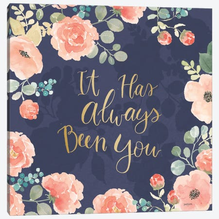 Blooming Delight V Blue Canvas Print #JEJ51} by Jenaya Jackson Art Print