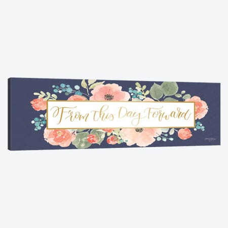 Blooming Delight VIII Blue Canvas Print #JEJ57} by Jenaya Jackson Canvas Wall Art