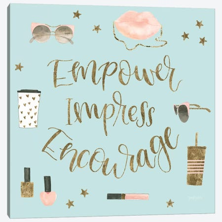 Boss Ladies V Mint Canvas Print #JEJ59} by Jenaya Jackson Canvas Art Print