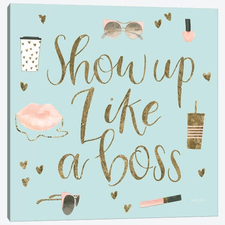 Boss Ladies VII Mint Canvas Print #JEJ61} by Jenaya Jackson Canvas Wall Art