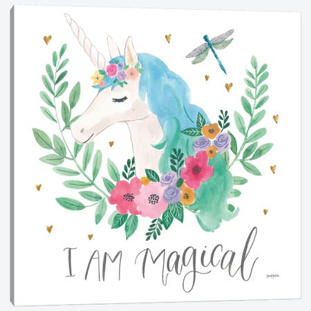 Magical Friends IV Dragonfly Canvas Print #JEJ70} by Jenaya Jackson Art Print