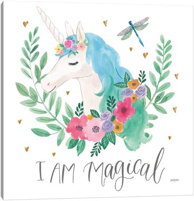 Magical Friends IV Dragonfly Canvas Art Print