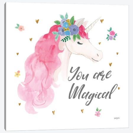 Magical Friends III You are Magical Canvas Print #JEJ73} by Jenaya Jackson Canvas Art Print