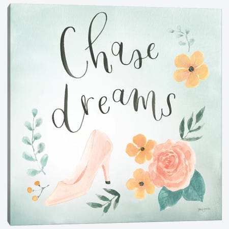 Chase Dreams I Green Canvas Print #JEJ79} by Jenaya Jackson Art Print
