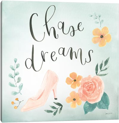 Chase Dreams I Green Canvas Art Print
