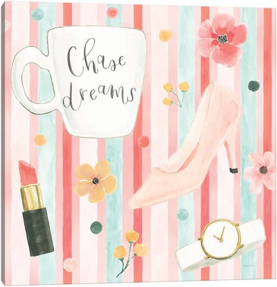 Chase Dreams Pattern V Canvas Art Print