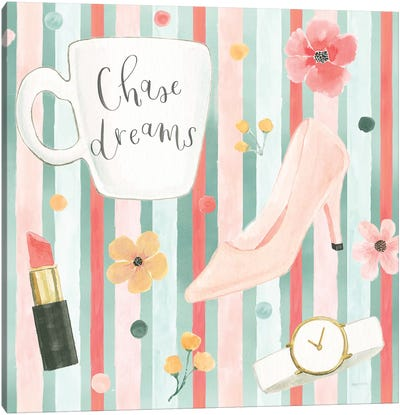 Chase Dreams Pattern VB Canvas Art Print