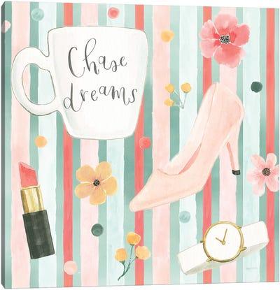 Chase Dreams Pattern VB Canvas Art Print
