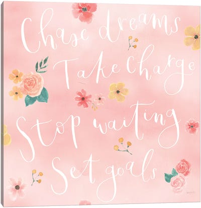 Chase Dreams Pattern VIA Canvas Art Print